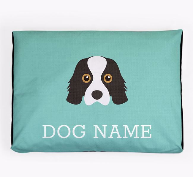 Personalised Icon Dog Bed for your Cavalier King Charles Spaniel