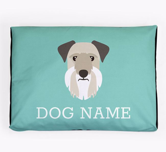 Personalised Icon Dog Bed for your Cesky Terrier