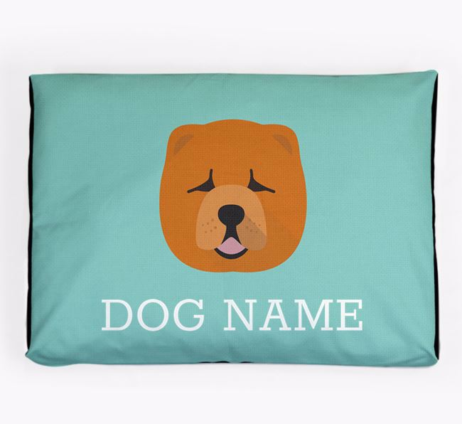 Personalised Icon Dog Bed for your Chow Chow