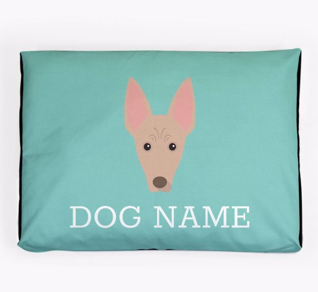 Personalised Icon Dog Bed for your Cirneco Dell'Etna