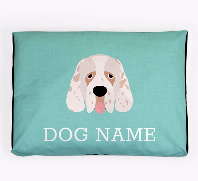 Personalised Icon Dog Bed for your Clumber Spaniel
