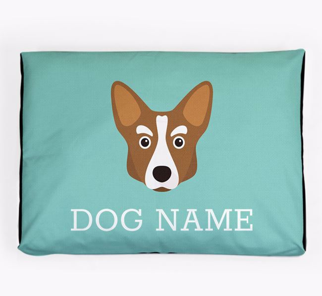 Personalised Icon Dog Bed for your Corgi