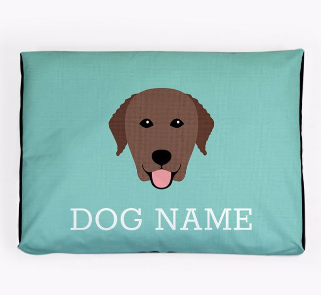 Personalised Icon Dog Bed for your Curly Coated Retriever
