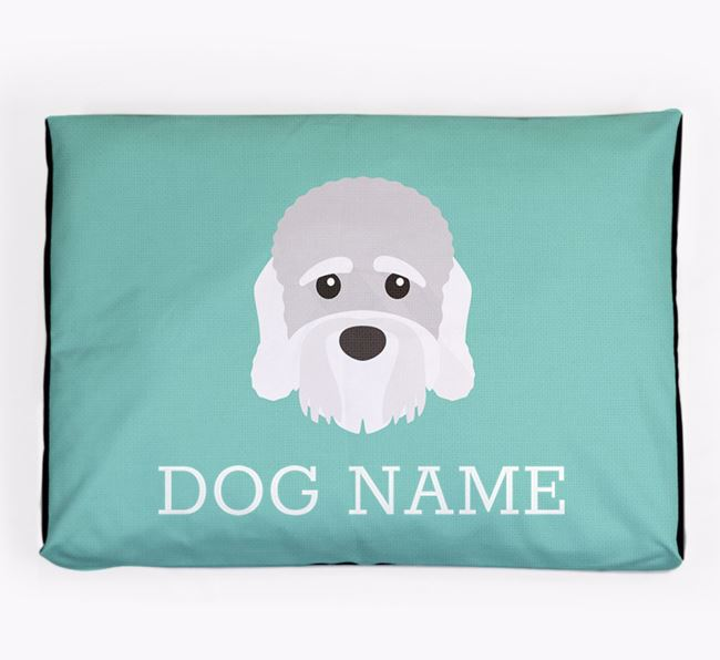 Personalised Icon Dog Bed for your Dandie Dinmont Terrier