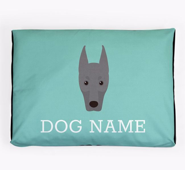 Personalised Icon Dog Bed for your Dobermann