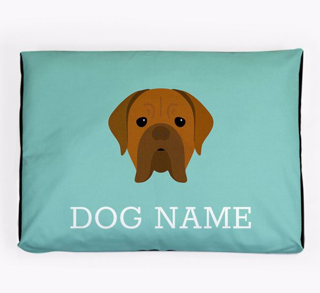 Personalised Icon Dog Bed for your Dogue de Bordeaux