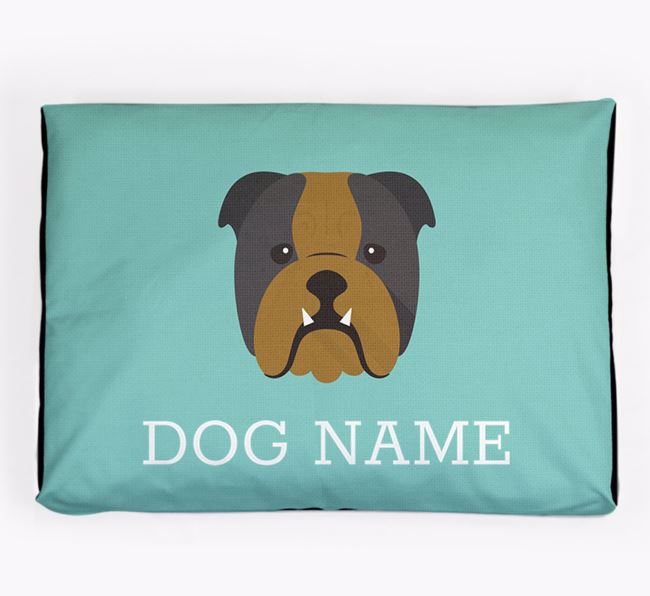 Personalised Icon Dog Bed for your English Bulldog
