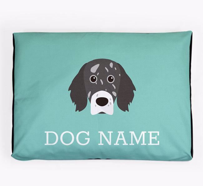 Personalised Icon Dog Bed for your English Setter