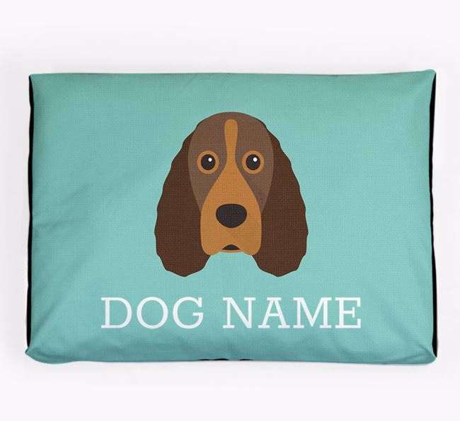 Personalised Icon Dog Bed for your Field Spaniel