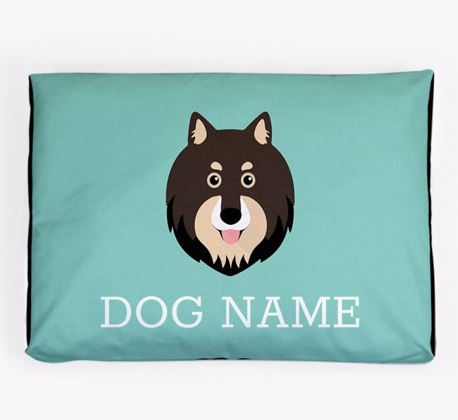 Personalised Icon Dog Bed for your Finnish Lapphund