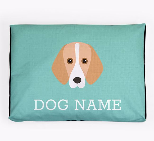 Personalised Icon Dog Bed for your Foxhound