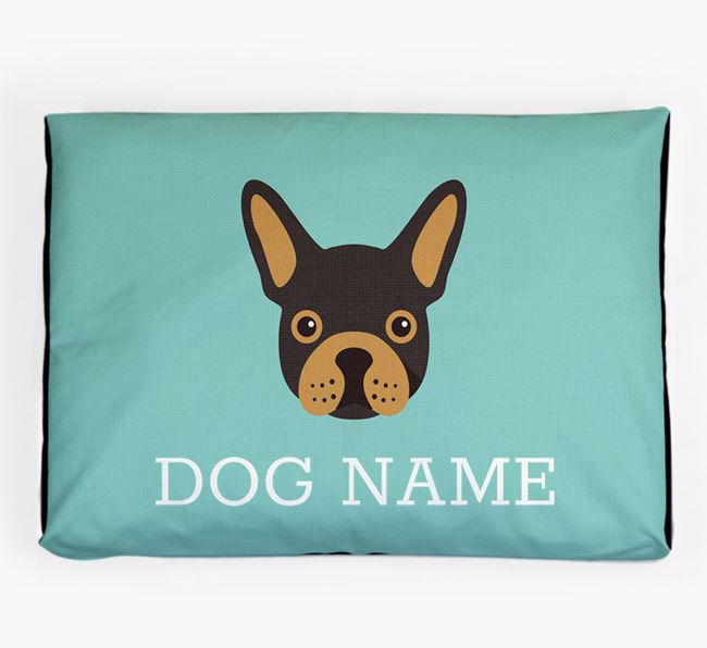 Personalised Icon Dog Bed for your French Bulldog