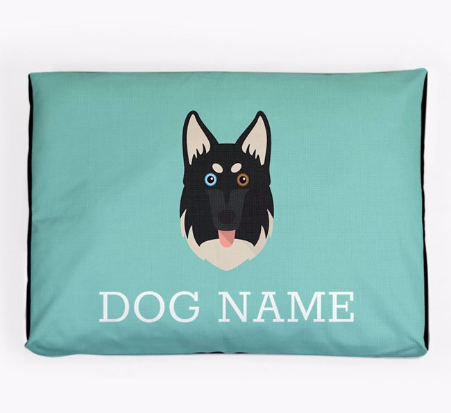 Personalised Icon Dog Bed for your Gerberian Shepsky