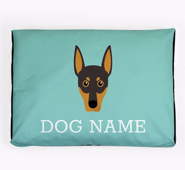 Personalised Icon Dog Bed for your German Pinscher