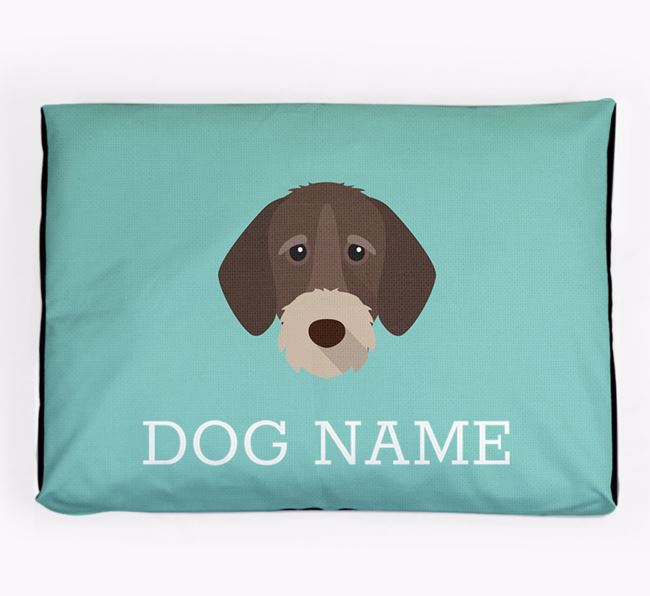Personalised Icon Dog Bed for your German Wirehaired Pointer