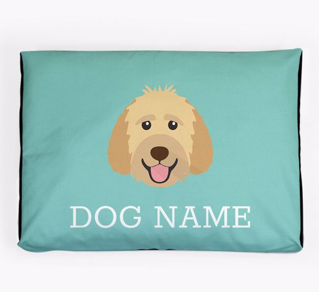 Personalised Icon Dog Bed for your Goldendoodle