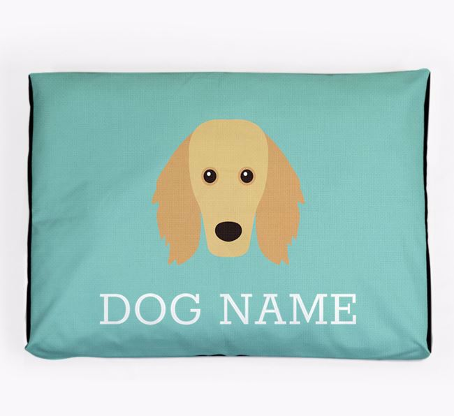 Personalised Icon Dog Bed for your Golden Dox