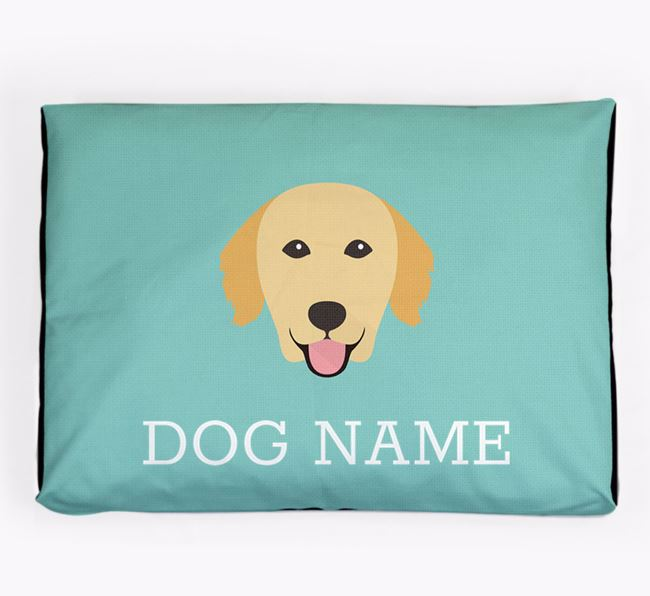 Personalised Icon Dog Bed for your Golden Retriever