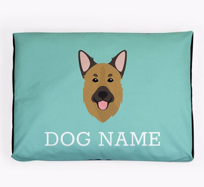 Personalised Icon Dog Bed for your Golden Shepherd