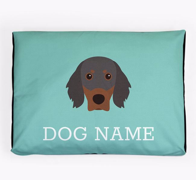 Personalised Icon Dog Bed for your Gordon Setter