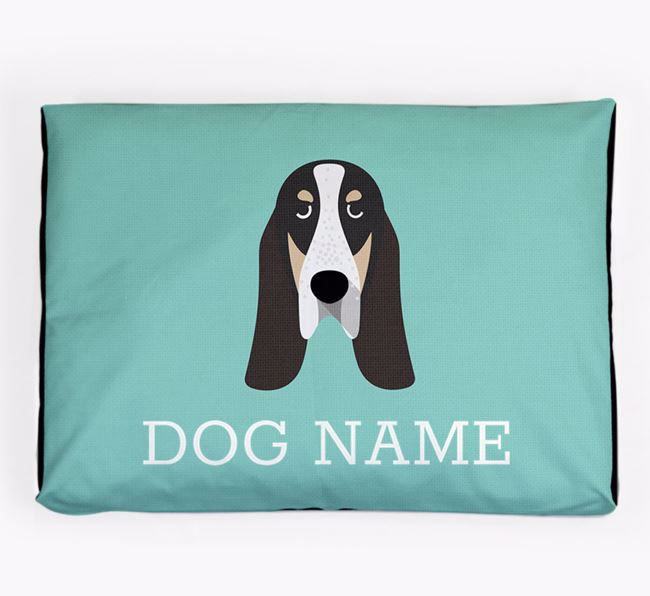 Personalised Icon Dog Bed for your Grand Bleu De Gascogne