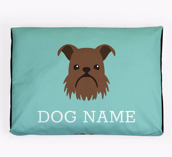Personalised Icon Dog Bed for your Griffon Bruxellois
