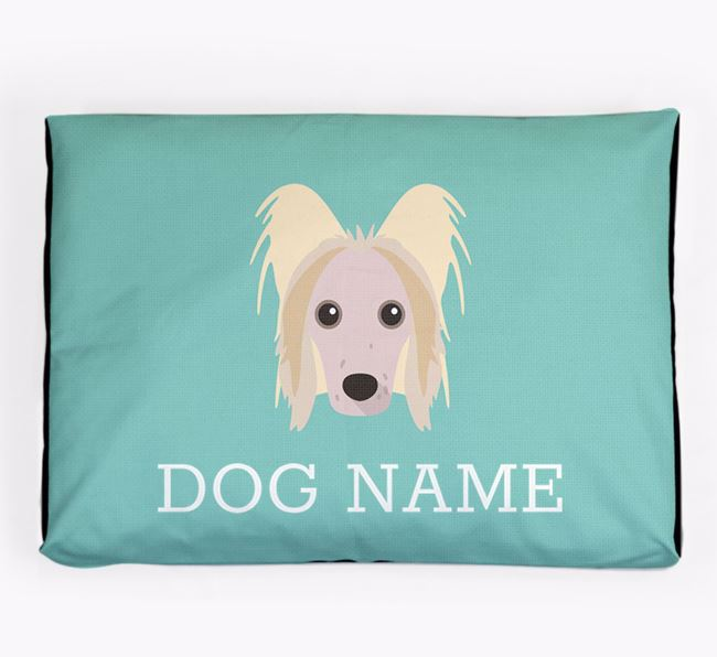 Personalised Icon Dog Bed for your Hairless Chinese Crested