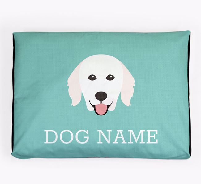 Personalised Icon Dog Bed for your Hungarian Kuvasz