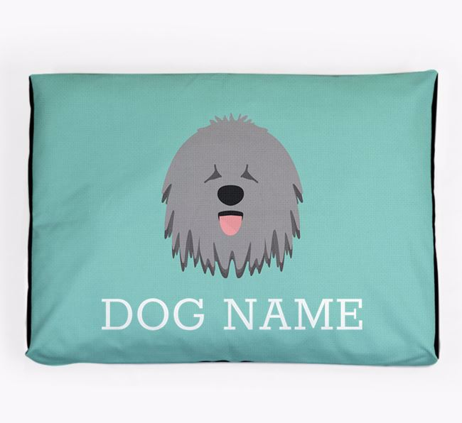 Personalised Icon Dog Bed for your Hungarian Puli