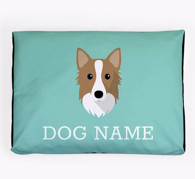 Personalised Icon Dog Bed for your Icelandic Sheepdog