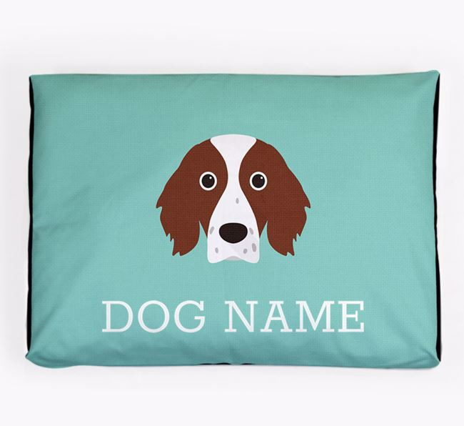 Personalised Icon Dog Bed for your Irish Red & White Setter