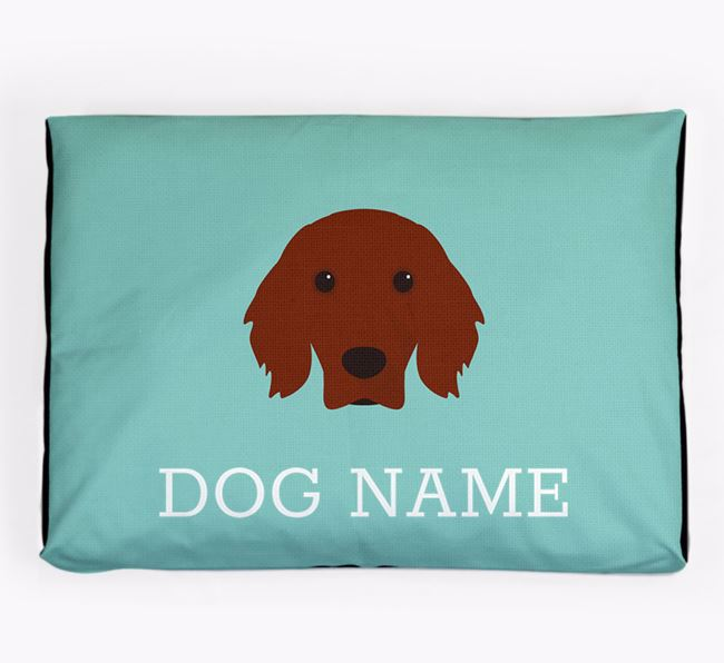 Personalised Icon Dog Bed for your Irish Setter