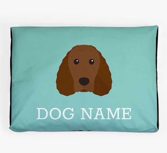Personalised Icon Dog Bed for your Irish Water Spaniel
