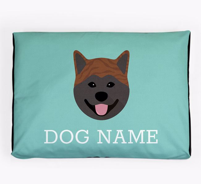 Personalised Icon Dog Bed for your Japanese Akita