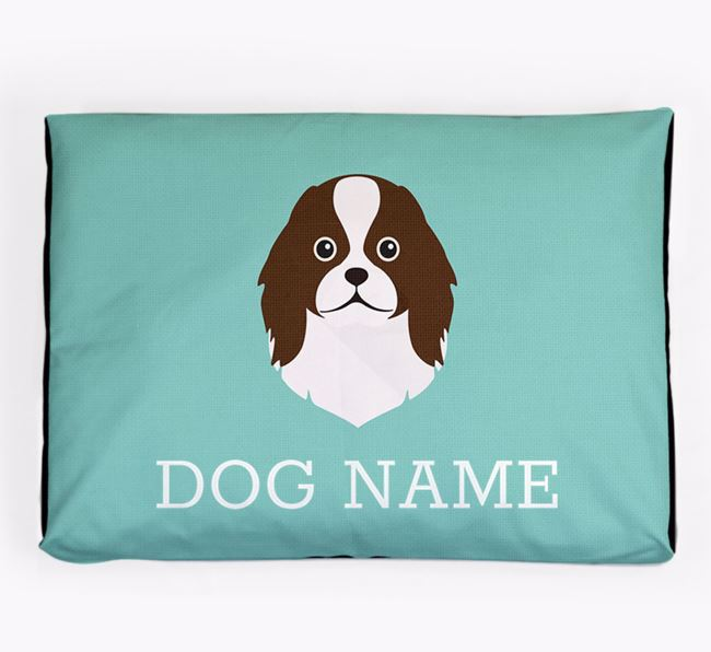 Personalised Icon Dog Bed for your Japanese Chin