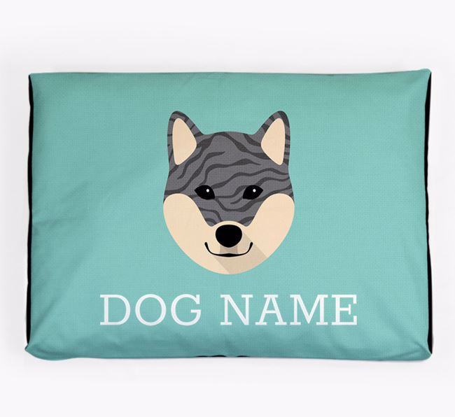 Personalised Icon Dog Bed for your Japanese Shiba