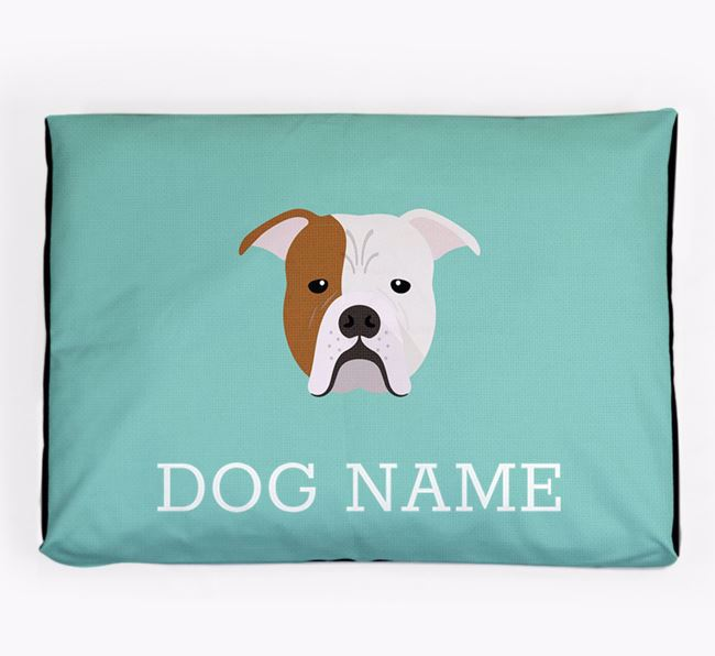 Personalised Icon Dog Bed for your Johnson American Bulldog