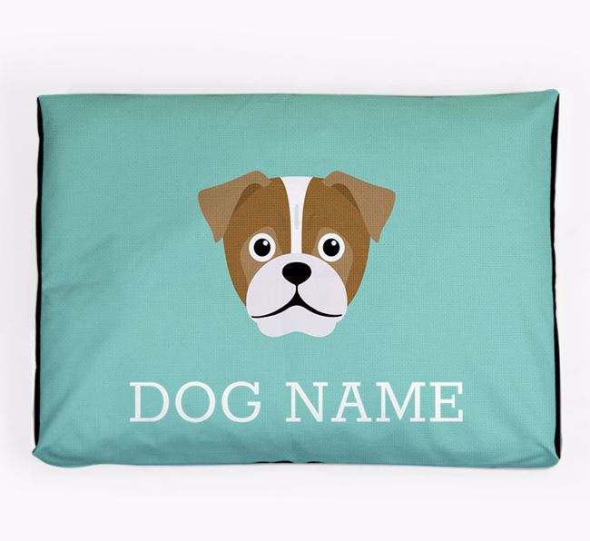 Personalised Icon Dog Bed for your Jug