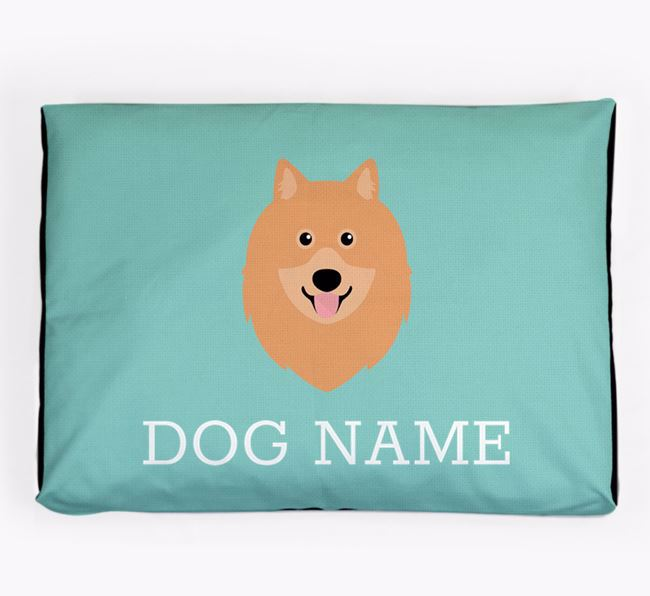Personalised Icon Dog Bed for your Keeshond