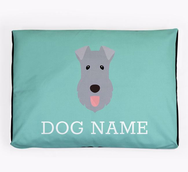 Personalised Icon Dog Bed for your Kerry Blue Terrier