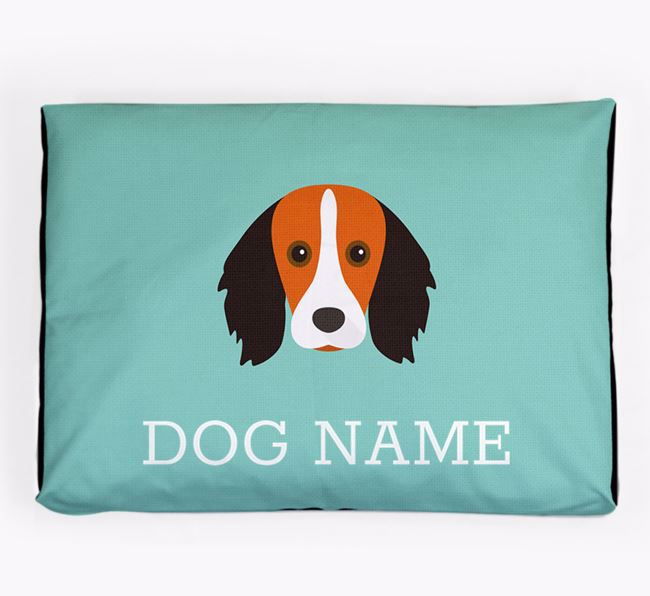 Personalised Icon Dog Bed for your Kooikerhondje