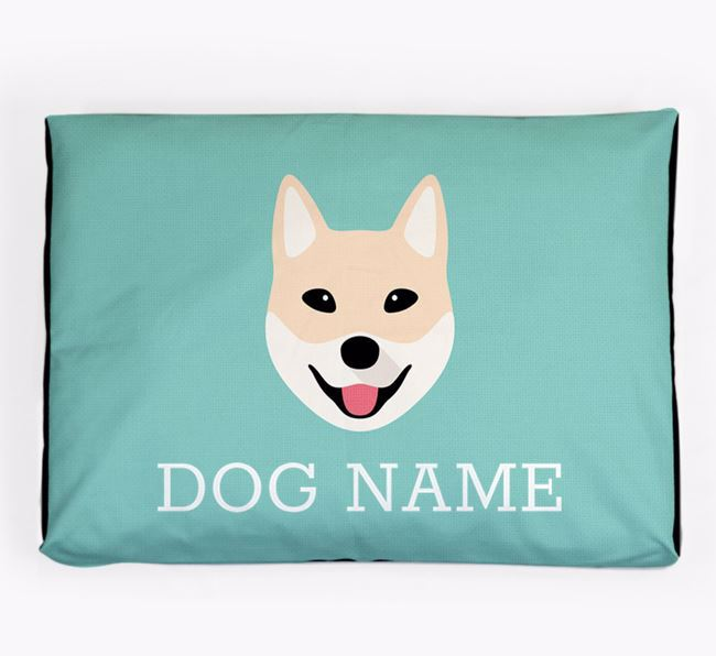 Personalised Icon Dog Bed for your Korean Jindo