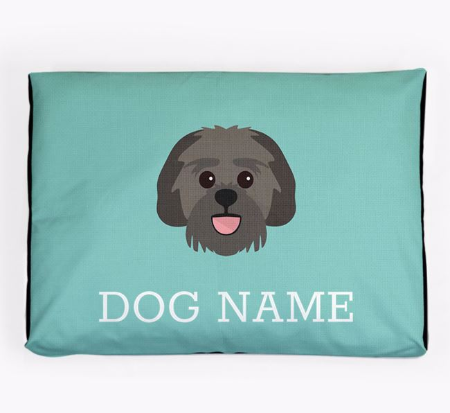 Personalised Icon Dog Bed for your Lachon