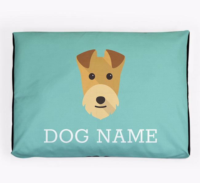 Personalised Icon Dog Bed for your Lakeland Terrier