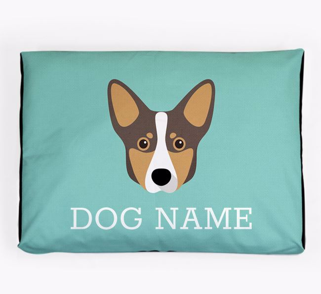 Personalised Icon Dog Bed for your Lancashire Heeler