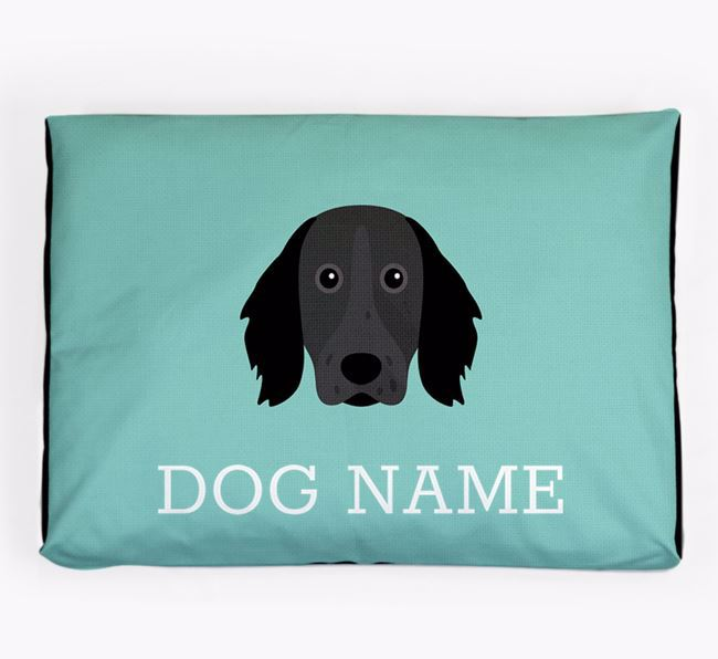 Personalised Icon Dog Bed for your Large Munsterlander