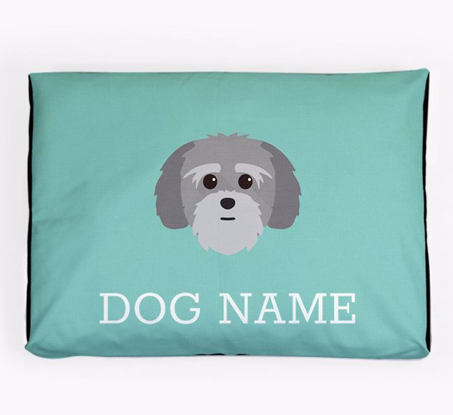 Personalised Icon Dog Bed for your Lhatese
