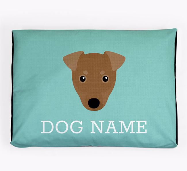 Personalised Icon Dog Bed for your Manchester Terrier