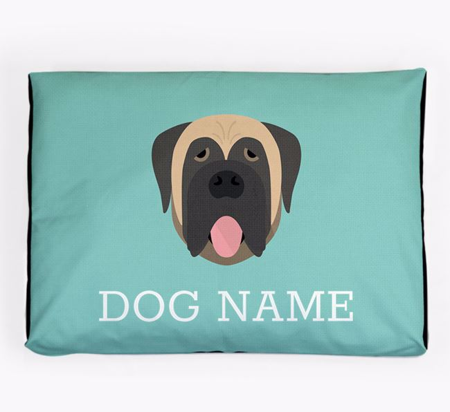 Personalised Icon Dog Bed for your Mastiff
