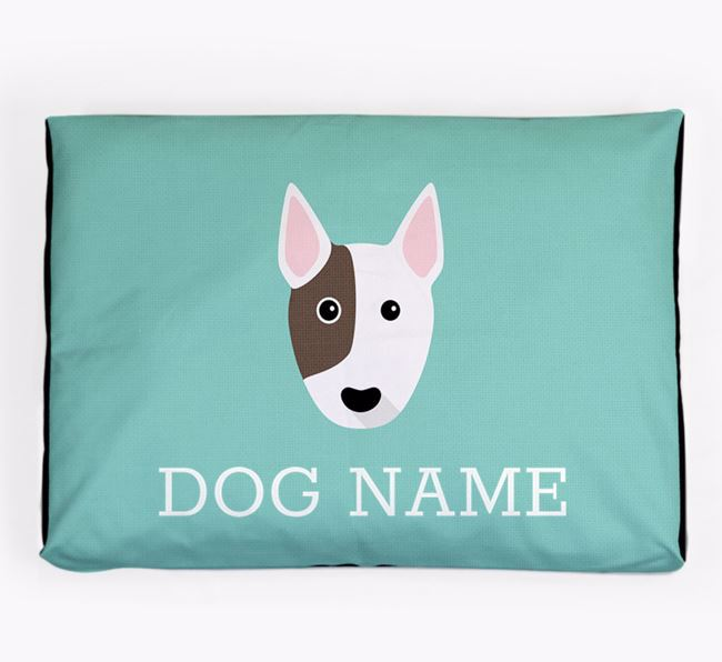 Personalised Icon Dog Bed for your Miniature Bull Terrier